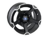 Vader 14'' Flat Black Wheel Front 1