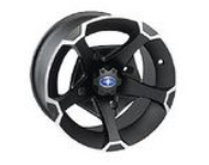 Vader 14'' Flat Black Wheel Rear 1